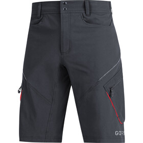 GORE WEAR C3 Trail Shorts Heren, black/red